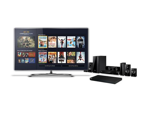 Cineplex, mobile menu view, television streaming application, tv application development team, streaming video development team