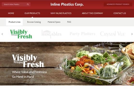 Inline plastics, products view, website development, wordpress development, popkit design,