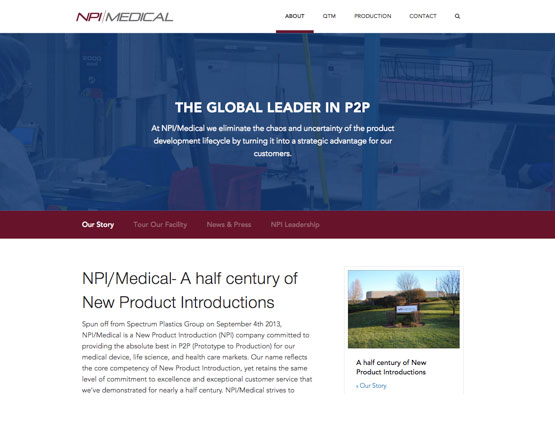 NPI Medical, website development, wordpress development, website development group, wordpress developers