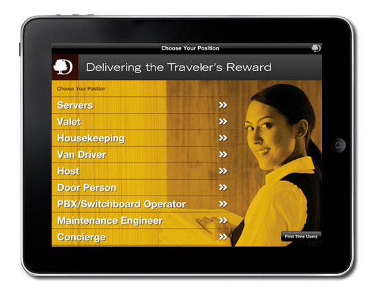 doubletree training iPad application, doubletree training, iOS development group, iOS development agency, staff training digital app,