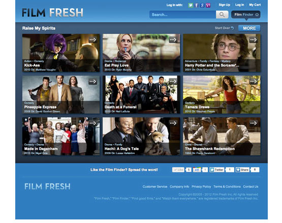 Film fresh, independent film streaming, streaming movie application, SmartTV application development, Netflix competitor