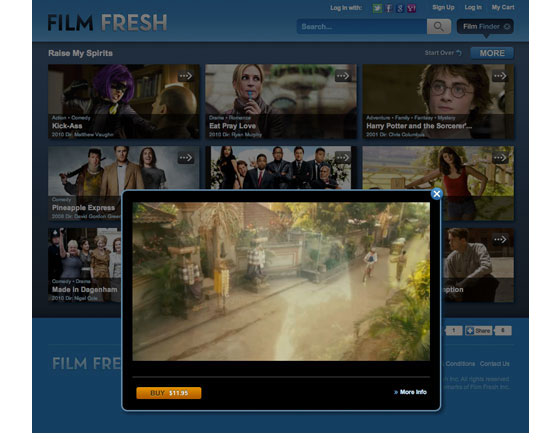 FIlm fresh, independent film streaming, streaming independent movie, Netflix competition, SmartTV application development group