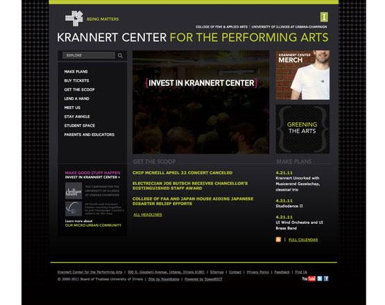 Krannert Center, Homepage, website development group, website development agency, .Net development