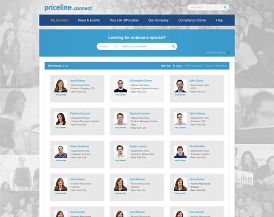 Priceline employee directory image, corporate directory, social platform for enterprise,